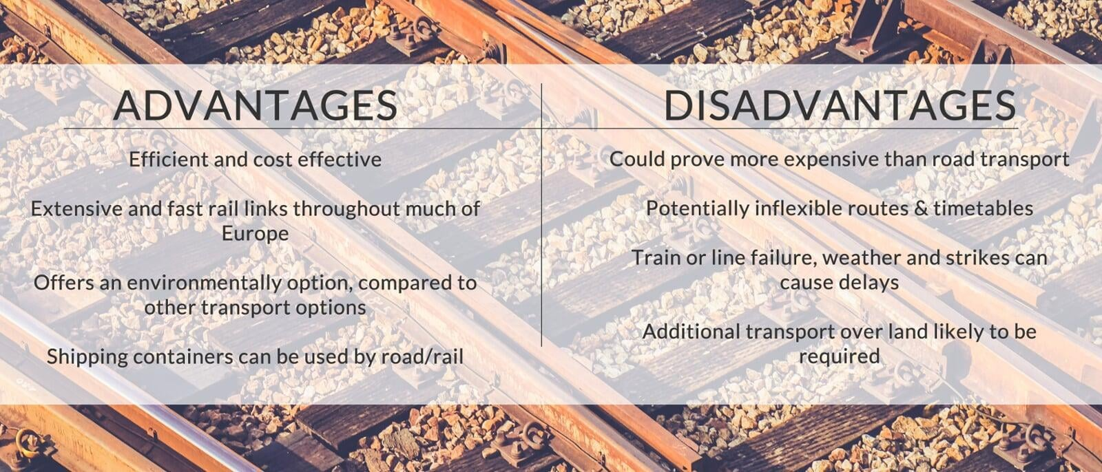 The advantages & disadvantages of rail freight