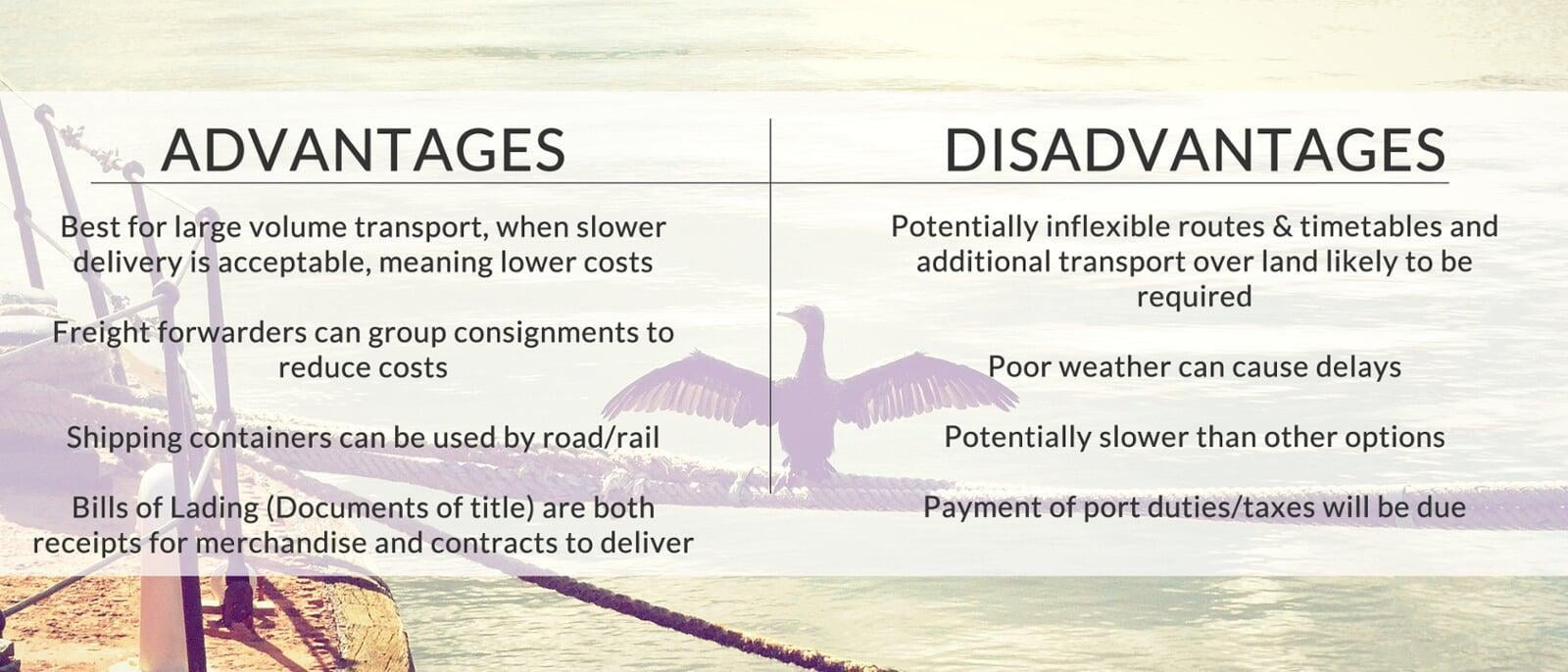 The advantages & disadvantages of sea freight